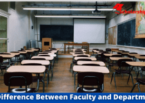 Difference Between Faculty and Department