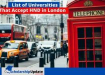 List of Universities That Accept HND in London